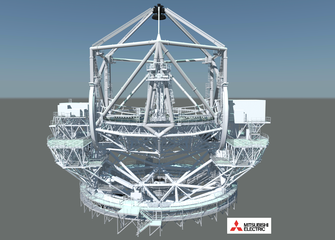 telescope structure - front view